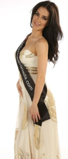 Brienna MCCutcheon, 23 year old contestant from Edmonton for Miss World Canada 2014