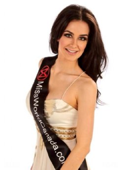 Brienna MCCutcheon, a former St Francis Xavier graduate, vies to be Miss World Canada 2014.