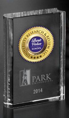 Crystal Best Value School Trophy