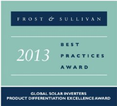 Frost & Sullivan Best Practices Award 2013 - CyboEnergy