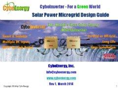 Solar Power Microgrid Design Guide by CyboEnergy (Rancho Cordova, CA)