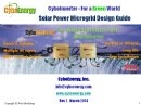 CyboEnergy Releases Solar Power Microgrid Design Guide