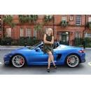 Maria Sharapova test drives the new Porsche Boxster Spyder