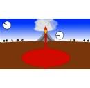 Monitoring volcanoes with ground-based atomic clocks