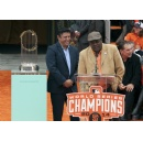SF Giants Legend Tito Fuentes and 2014 SF Giants World Series Trophy Make Appearance June 13th at the San Mateo County Fair