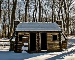 Replica hut at Jockey Hollow, Morristown National Historical Park, Morristown NJ