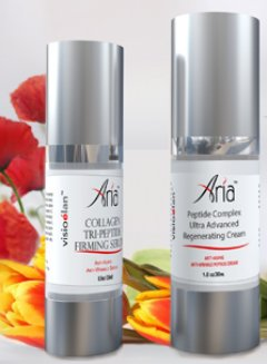 Visio Elan Aria Collagen Tri-Peptide Serum with Aria Peptide Complex Hyaluronic Acid Regenerating Cream