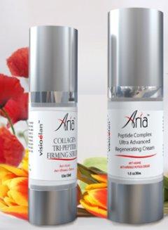 Visio Elan Aria Collagen Tri-Peptide Serum with Aria Peptide Complex Hyaluronic Acid Regenerating Cream
