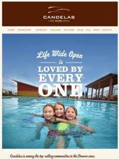 Candelas, New Homes from  in Arvada Colorado from the $300s to over $1 million.  Life Wide Open.