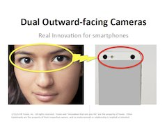 Image of Slide #1 of Dual Outward-Facing Cameras - Real Innovation for Smartphones - Slide deck on Slideshare.com