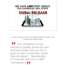 Cutting Edge Dubai Release From AMP Technologies Lays the Groundwork For an Upcoming Announcement, Taking Commercial Real Estate Where It Has Never Gone Before