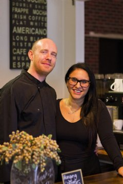 Stephen and Zoi from Eire Cafe, Clapham, Adelaide