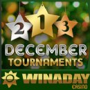 Over $13,000 to be Won in WinADay Casino�s December Slots Tournaments