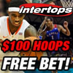 $100 free bet and $100 deposit bonus on offer at Intertops Sportsbook during March Madness.