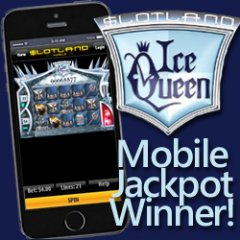 Slotland�s last jackpot winner won playing on his cell phone in bed.