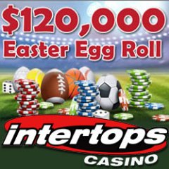 $120,000 Easter Egg Roll awarding $30,000 in casino bonuses every week at Intertops Casino