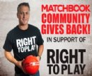 Matchbook Community Gives Back With Charity Partnership