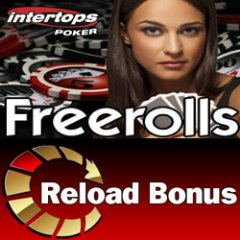 Extra freeroll tournaments and $200 reload bonus at Intertops Poker this weekend.