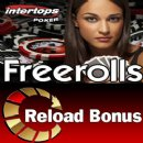 Freerolls and $200 Reload Bonus at Intertops Poker this Weekend