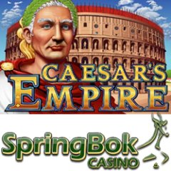 Bonuses, free spins and double comp points on Caesar�s Empire slot game at Springbok Casino.