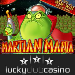 Metro-style Lucky Club Casino giving casino bonus to try new Martian Mania slot game