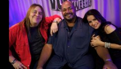 Voice talent Kevin Michael Richardson with VO Buzz Weekly hosts Chuck Duran and Stacey J. Aswad