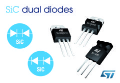 SiC dual diodes from STMicroelectronics