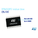 New Microcontrollers Bring USB and Bigger Flash to STM32F0 Value Line from STMicroelectronics