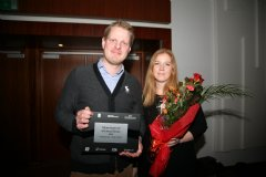 Nordic Visitor representatives �sberg J�nsson, CEO, and Linda �sk �orleifsd�ttir, Project Manager, accepted the award at the event.