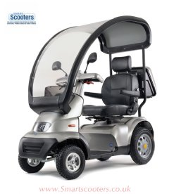 Tga Breeze S4 Mobility scooter fitted with the optional rigid canopy, Making it an every day mobility scooter