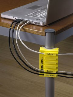 Easy View organizes cables and cords in home or office