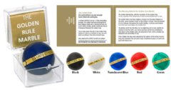 The Golden Rule Marble Gift set includes choice of marble color, acrylic gift box and pamphlet enclosure.