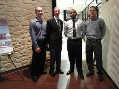 Customer Service Manager Jemal Hutson (second from left) represented TWI at this year�s event.
