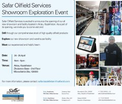 Safar�s Showroom Exploration Event gives you a closer look at thousands of premium oilfield products we provide as well as meet our industry experts.