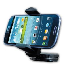 Do Good Have FunTM Car Phone Mount for Windshield & Dashboard - Fits iPhone, Samsung GS4, HTC One, Motorola Droid Razr & Blackberry Q Series, Garmin