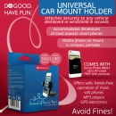 The Do Good Have FunTM Universal Car Mount Holder 20% Off Sale - Free Credit Card Wallet for Smartphones with Every Purchase