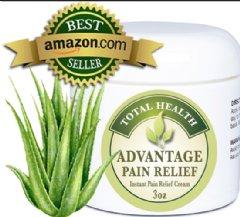 Aloe Pain Relief Cream 3oz by Total Health LLC