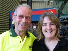 Leonie Woodham with Peter Schreurs