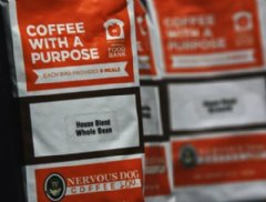 Every bag sold, of the Nervous Dog, Too, Akron Canton Regional Food Bank branded coffee, will provide 4 meal for those facing hunger.