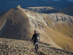 Hiker along the Continental Divide Trail in CO