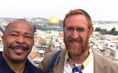 Rabbi Yehuda Glick and Pastor Keith Johnson on the Temple Mount in Jerusalem