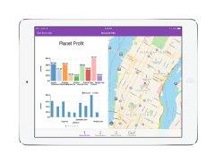 One of several analytics screens in NubiQ�s iPad APP