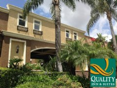 Entrance to the New Quality Inn and Suites Anaheim Maingate