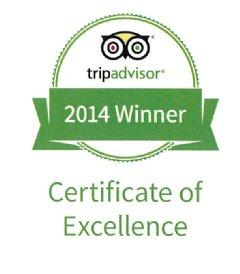 TripAdvisor� Certificate of Excellence