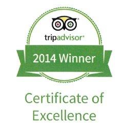 TripAdvisor� Certificate of Excellence