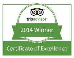 Magic of India TripAdvisor Award for Excellence 2014