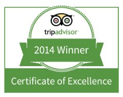 Magic of India TripAdvisor Award for Excellence 2014
