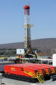A Shell rig in Tioga County, Pennsylvania