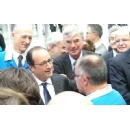French President Fran�ois Hollande inaugurates new Safran/Albany production plant in eastern France