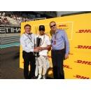 Mercedes AMG Petronas driver Lewis Hamilton wins DHL Fastest Lap Award 2014